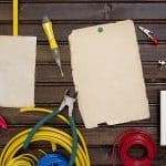 Equipment and tools for installing electrical outlets and switches.